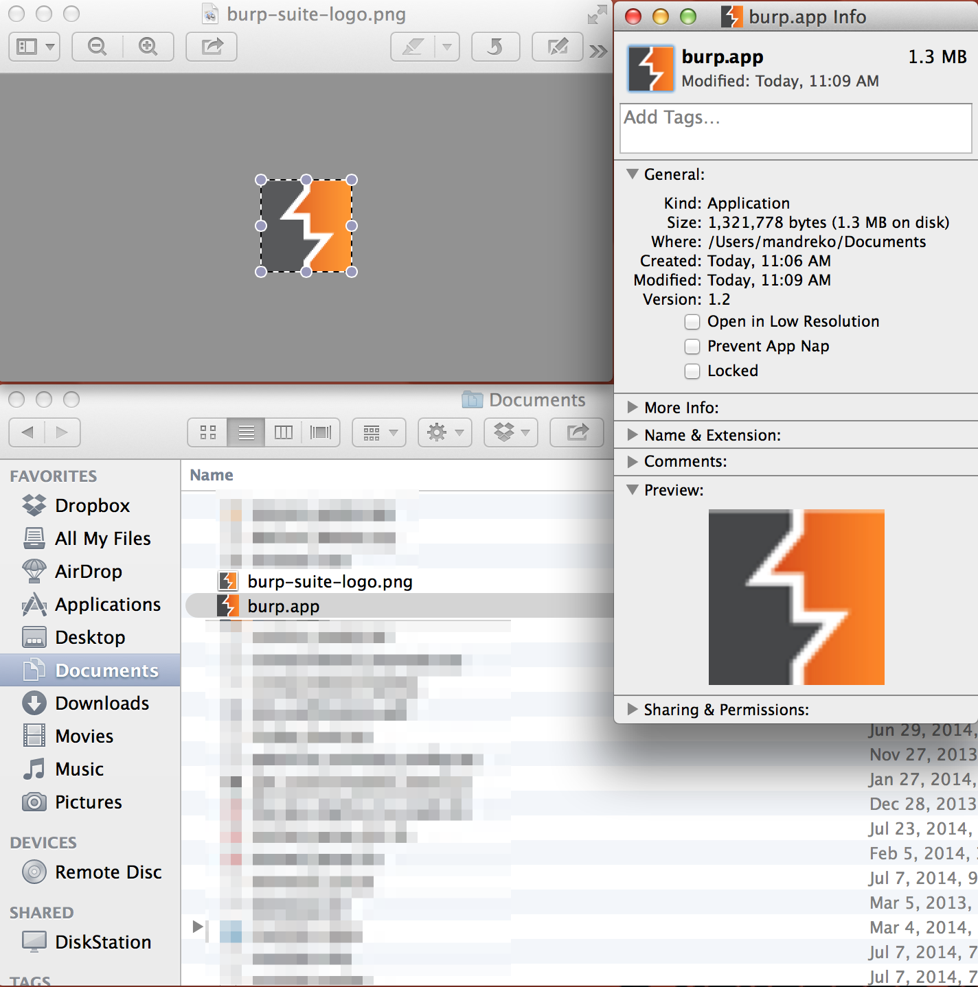 Burp Icon in OSX